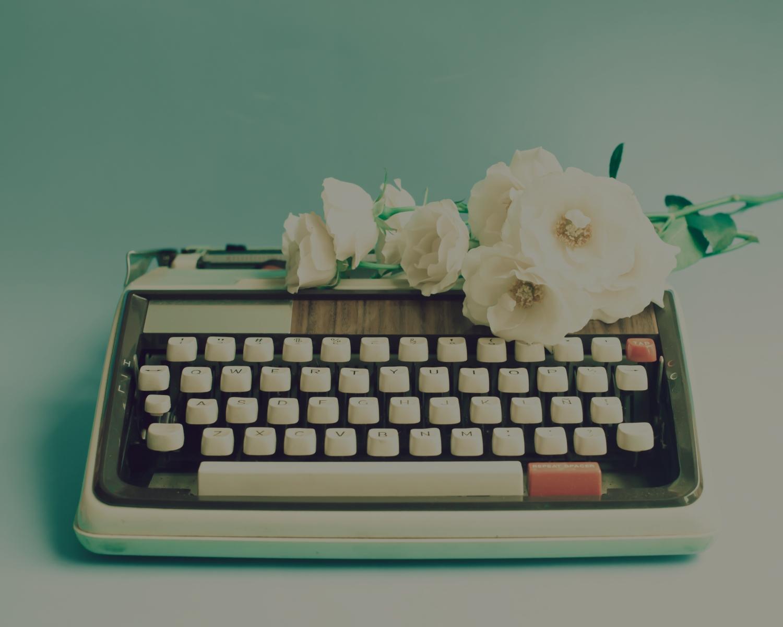 background teal darker typewriter