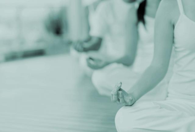 yoga class teal
